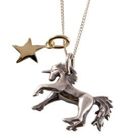 Silver Unicorn Vermeil Star Necklace - Joy Everley Fine Jewellers, London