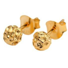 Gold Peppercorn Ear Studs - Joy Everley Fine Jewellers, London
