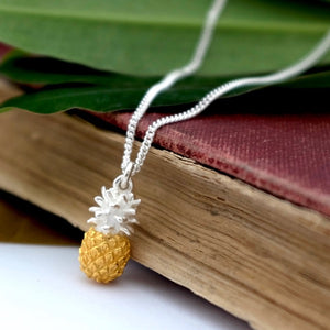 Silver and Vermeil Pineapple Necklace by Joy Everley