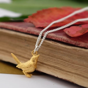 Silver Wren Necklace by Joy Everley