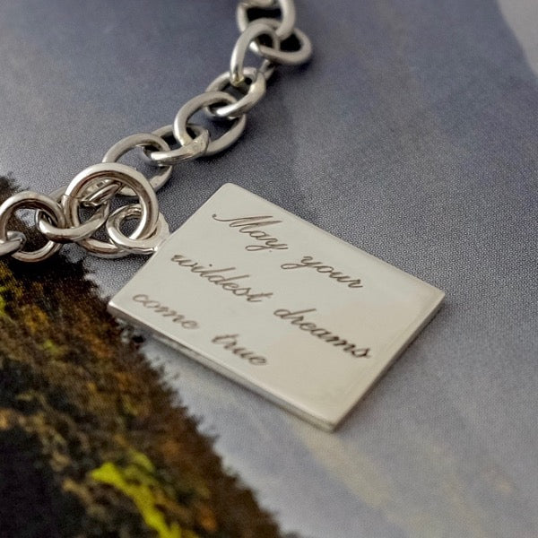 Silver Bracelet & Wildest Dreams Tag by Joy Everley