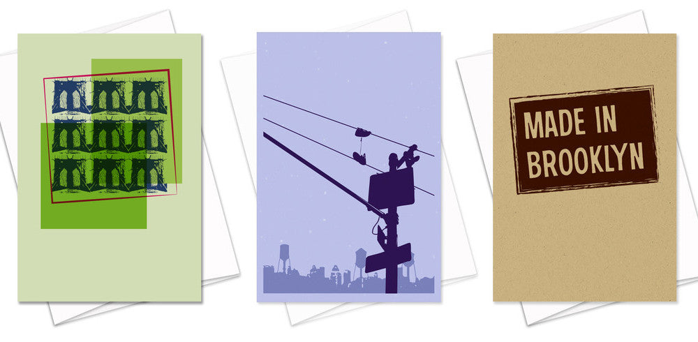 Brooklyn Greeting Cards by Furst Impressions Brooklyn Bridge Made in Brooklyn