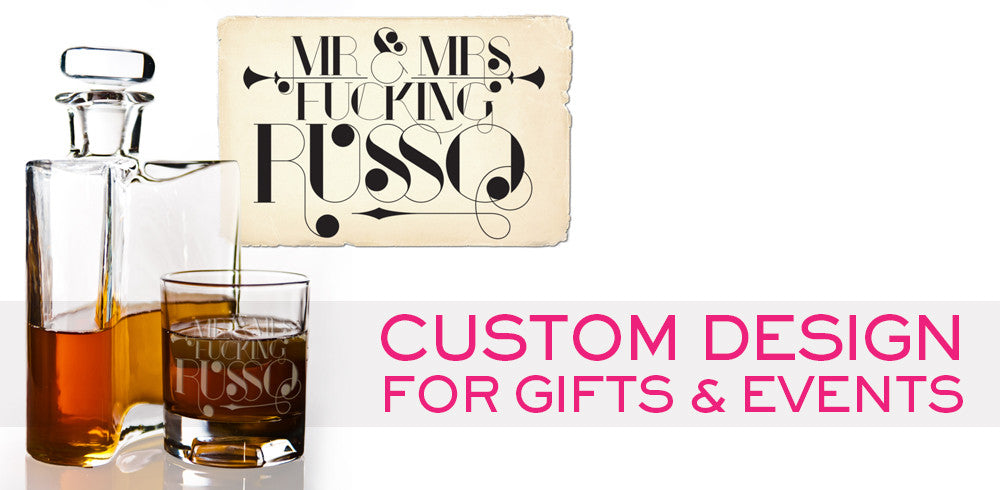 Custom Logos and Design for Gifts and Barware by Furst Impressions