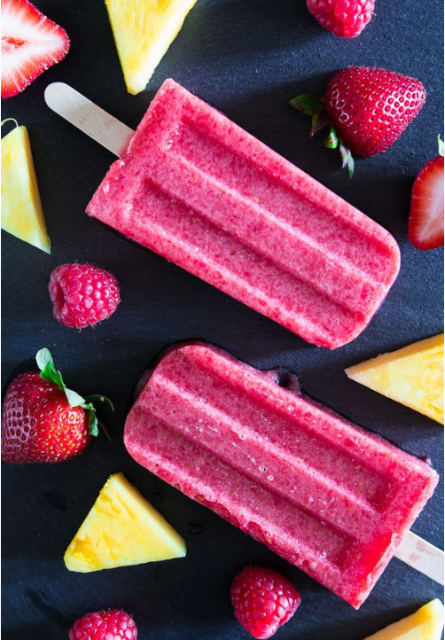 Healthy Summer Recipes: Strawberry Pineapple Popsicle