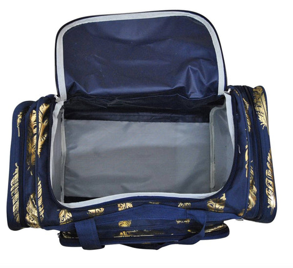 Bag - Maternity Hospital Labor Duffle Bag, Pre-packed Toiletry Bag - Feather Gold Navy
