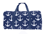 Bag - Maternity Hospital Labor Duffle Bag, Pre-packed Toiletry Bag - Round Anchor Navy