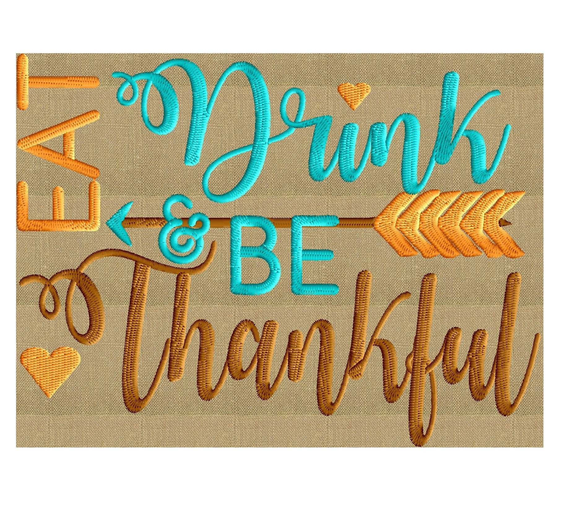 Thanksgiving tribal quote embroidery design quot eat drink