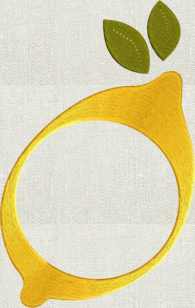 24 Hours Of Lemons >> Lemon Frame Design - Fruit - EMBROIDERY DESIGN FILE ...