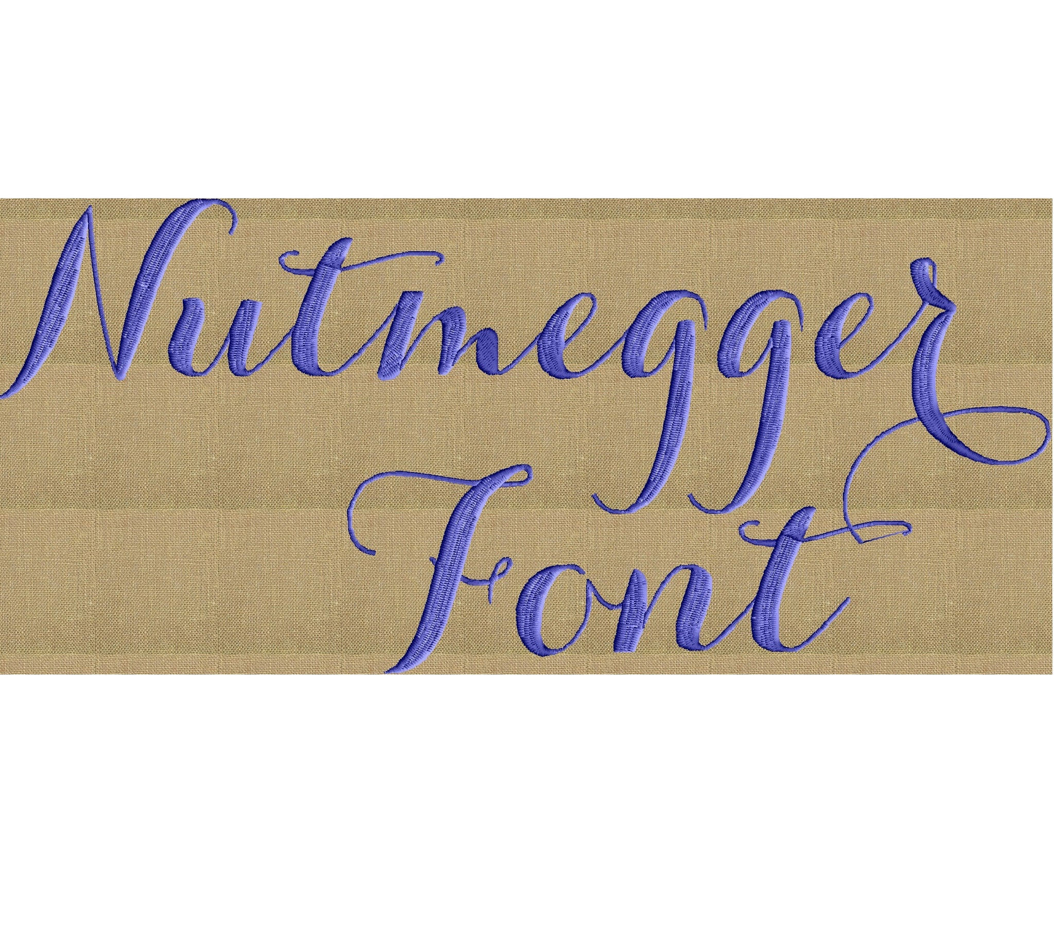 "Nutmegger Full 2"" Font with symbols & numbers Embroidery File - EMBROIDERY DESIGN FILE- Instant download"