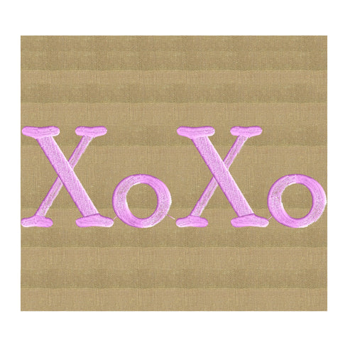 XOXO Love  Design - Valentines - Hug Kiss - Font not included - EMBROIDERY DESIGN FILE - Instant download - Dst Hus Jef Pes formats