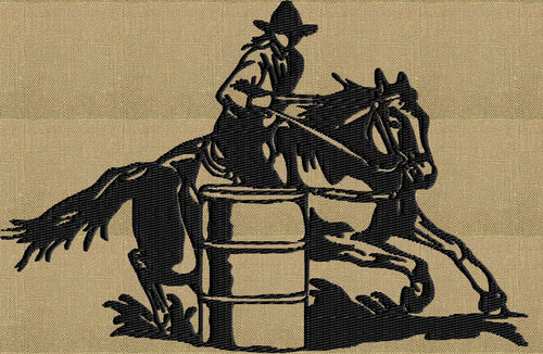 Barrel Racing Horse Cowgirl - EMBROIDERY DESIGN file - Instant download  animals