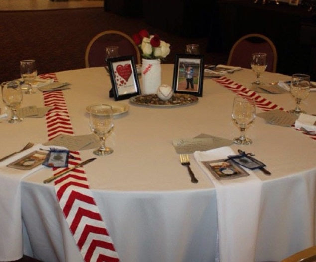 BASEBALL Table Runners Ribbon Party Themed Red Chevron Modern Wedding Table Runner set of 2 by your choice of length Chevron runner w/ FREE SHIPPING!