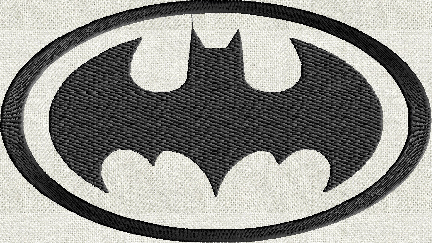 BATMAN Embroidery Design - EMBROIDERY Design FILE - Instant download - fun stuff