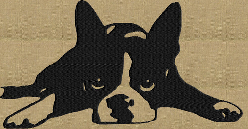 Boston Terrier dog - Embroidery DESIGN FILE - Instant download animals