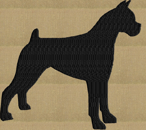 Boxer - Embroidery Design Embroidery DESIGN FILE - Instant download animals