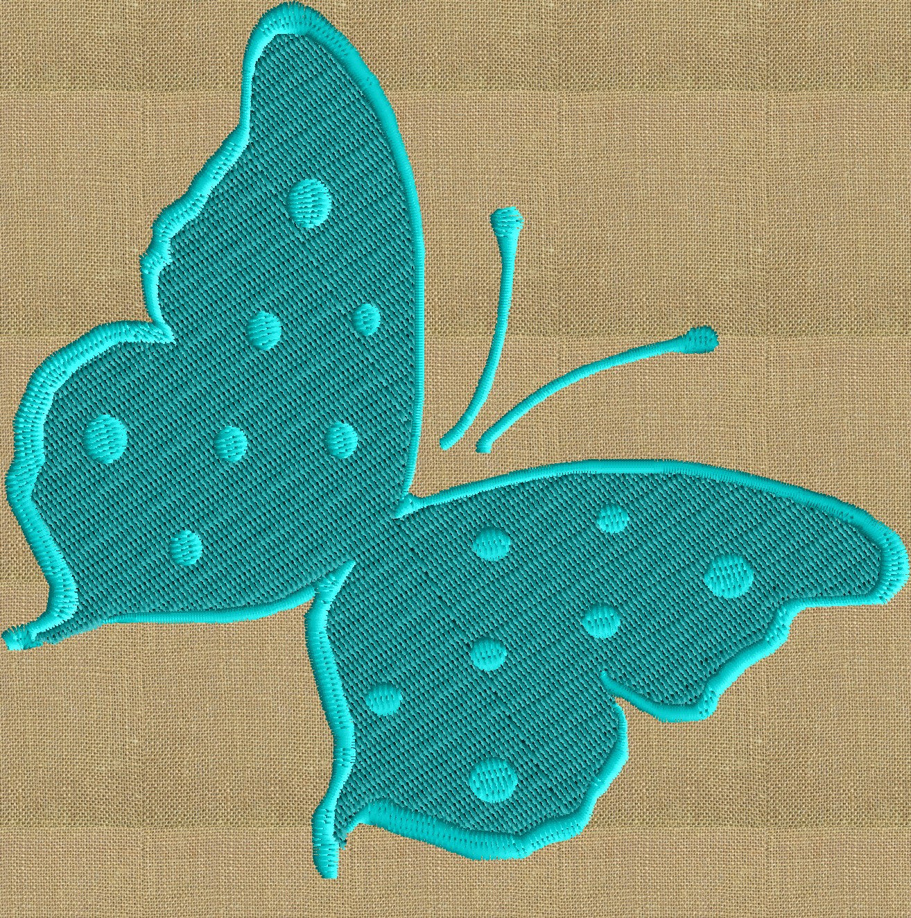 Butterfly - EMBROIDERY DESIGN file - Instant download Exp Jef Vp3 Pes Dst Hus formats - 2 sizes & 2 colors