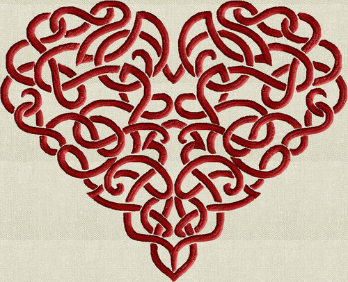 Celtic Heart Embroidery Design - EMBROIDERY DESIGN FILE