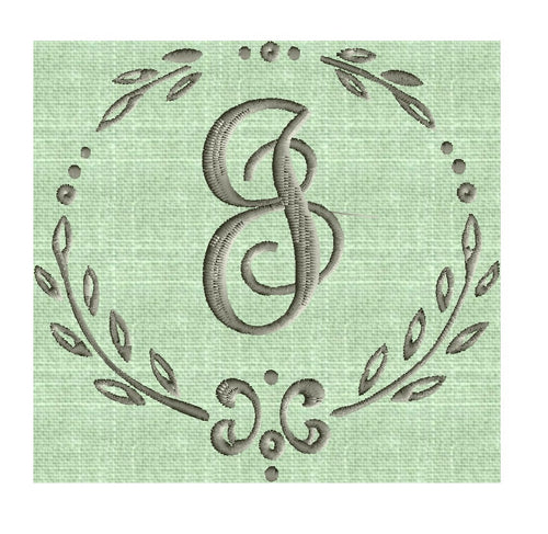 Charming SMALL 3.5inch Font Frame Monogram Embroidery Design -Font not included - Instant download - Hus Vp3 Dst Exp Jef Pes formats