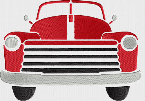 Retro Convertable Pickup truck - EMBROIDERY DESIGN file - Instant download - Hus Exp Jef Vp3 Pes Dst - 2 sizes Convertible farm 50s car