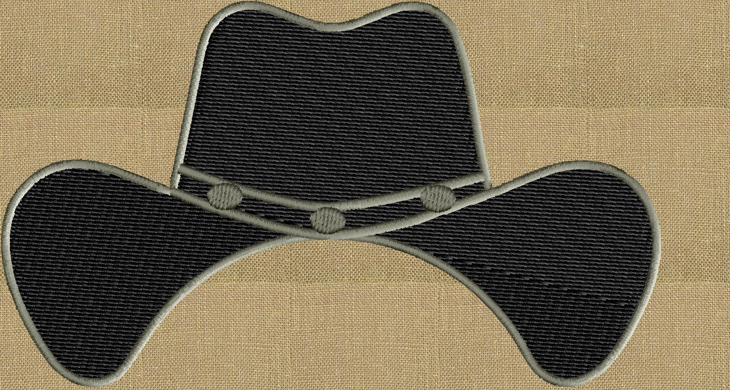 Cowboy Hat Font Frame Monogram Design -Font not included - EMBROIDERY DESIGN FILE - Instant download - Vp3 Hus Dst Exp Jef Pes formats