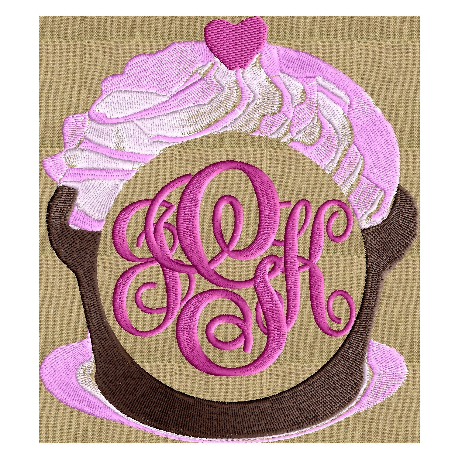 Cupcake Frame Design - Food - EMBROIDERY DESIGN FILE - Instant download - Dst Hus Jef Pes Exp formats
