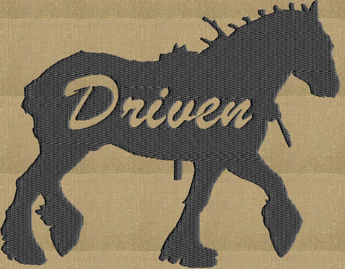 "Draft Horse ""Driven"" - EMBROIDERY DESIGN file - Instant download animals"