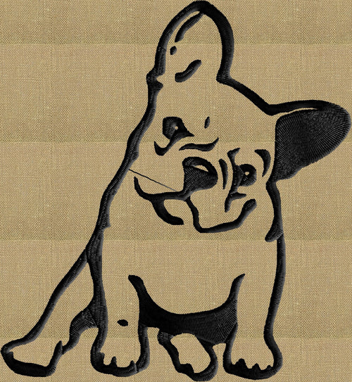 French Bulldog Bull dog - Embroidery DESIGN FILE - Instant download animals