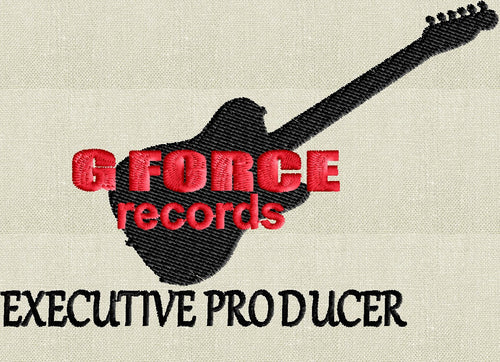 "G Force Records ""Executive Producer"" - Disney Rock n Rollercoaster - Hollywood Studios inspired - Fathers Day - EMBROIDERY Design FILE"