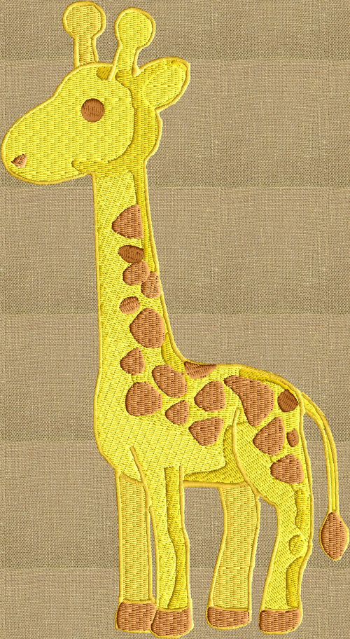 Giraffe - EMBROIDERY DESIGN file - Instant download animals