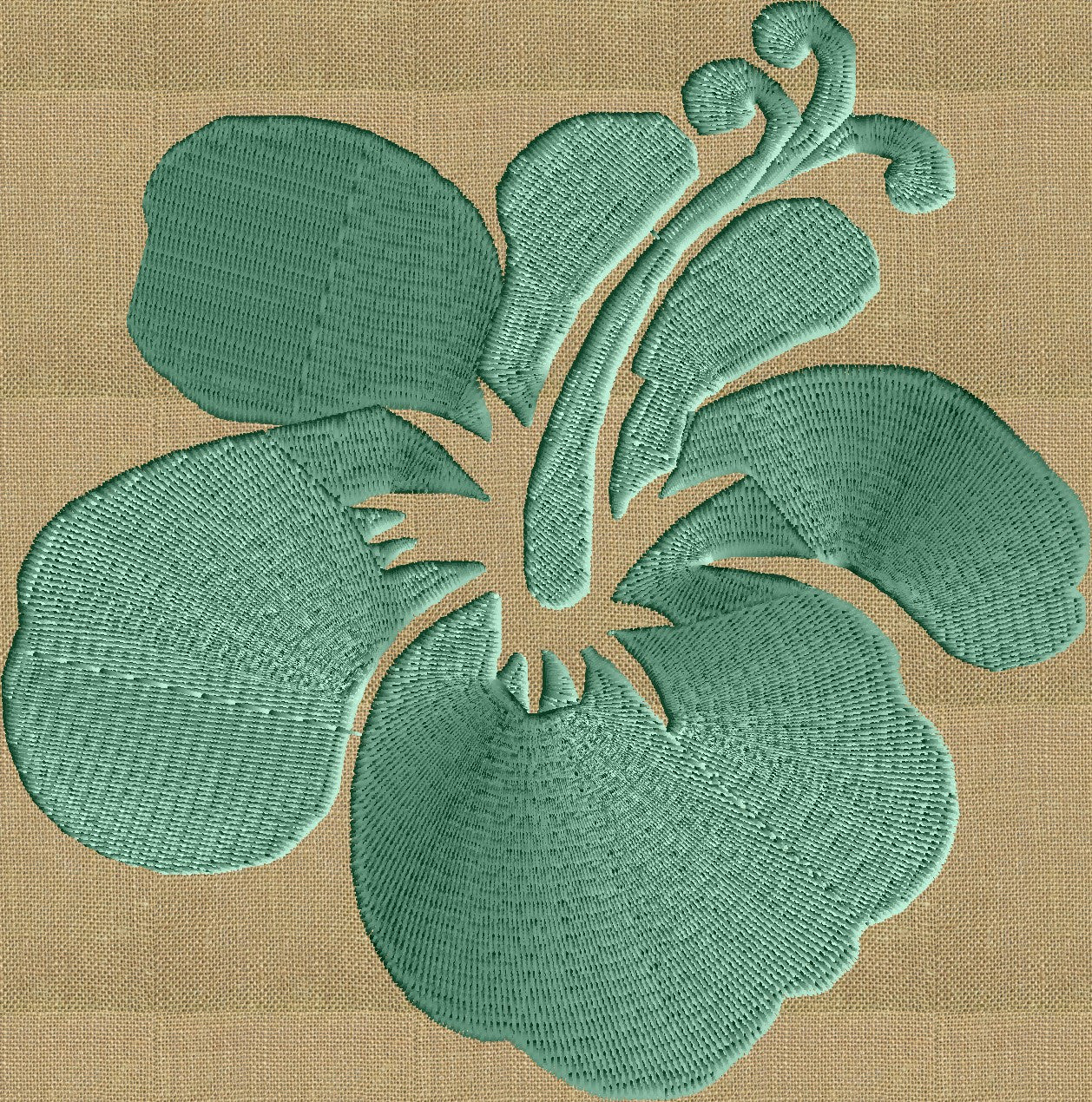 Hawaiian Flower - EMBROIDERY Design FILE - Instant download