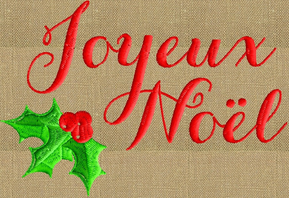 Noel Christmas.Joyeux Noel Christmas Quote Embroidery Design File Instant Download Dst Hus Jef Pes Formats