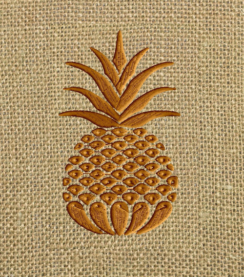 Pineapple Design - Welcome - Heart and home - EMBROIDERY DESIGN FILE - Instant download - Dst Hus Jef Pes Exp formats