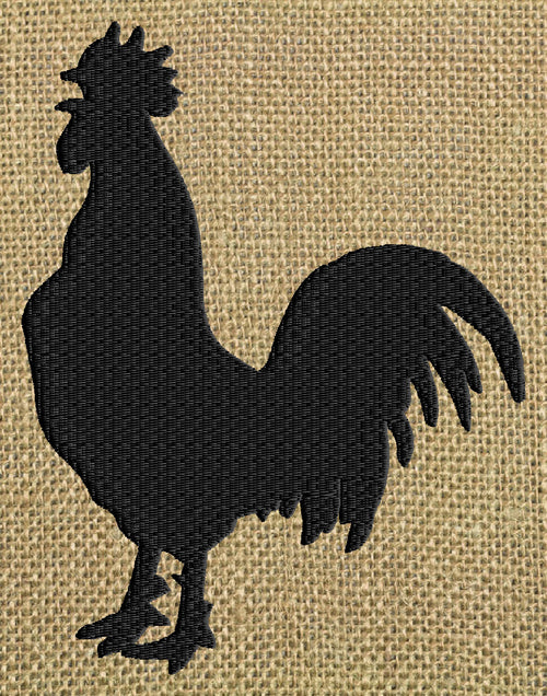 Rooster Silhouette - Embroidery Design Embroidery DESIGN FILE - Instant download animals