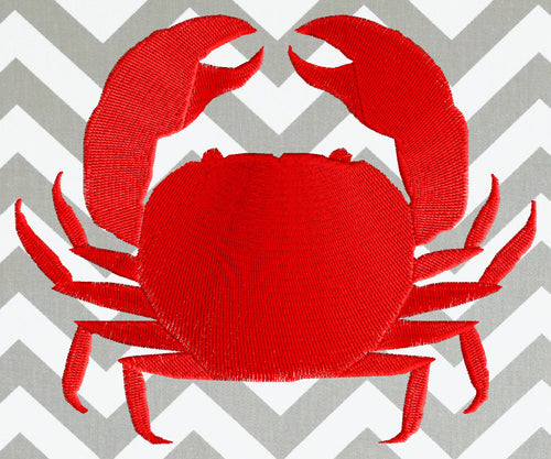 CRAB Silhouette - Embroidery Design Embroidery DESIGN FILE - Instant download animals