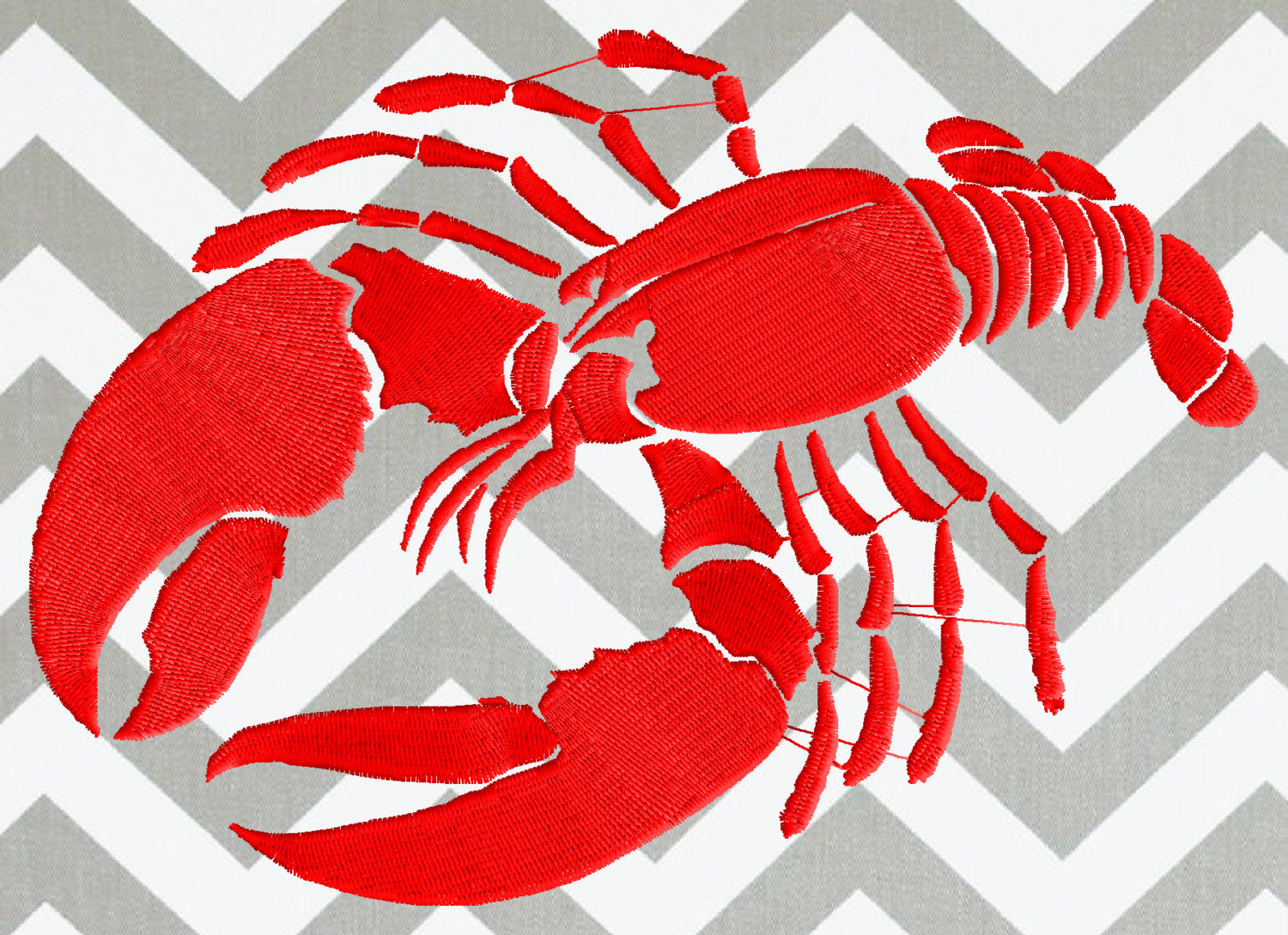 LOBSTER Silhouette - Embroidery Design Embroidery DESIGN FILE - Instant download animals