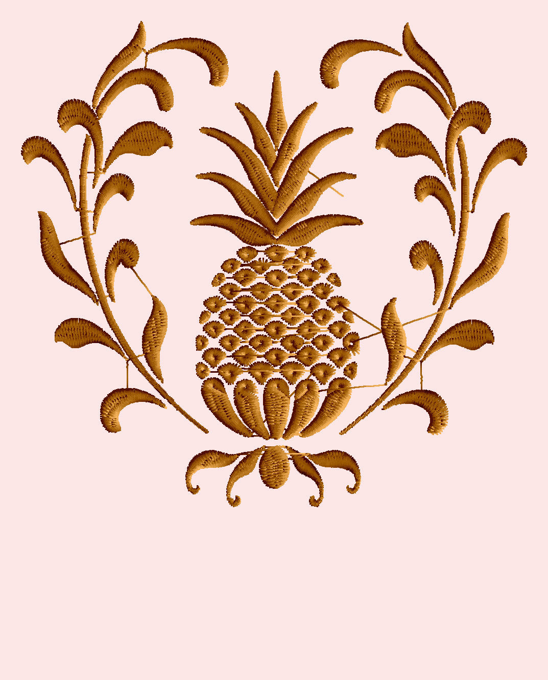 Pineapple Wreath Design - Welcome - Valentines day Heart and home - EMBROIDERY DESIGN FILE - Instant download - Dst Hus Jef Pes Exp formats $4.99 USD