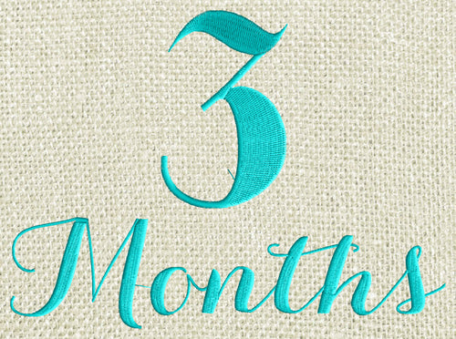 "Baby ""3 months"" Design - EMBROIDERY DESIGN FILE - Photo op - Instant download - Dst Hus Jef Pes Exp Vp3 formats"