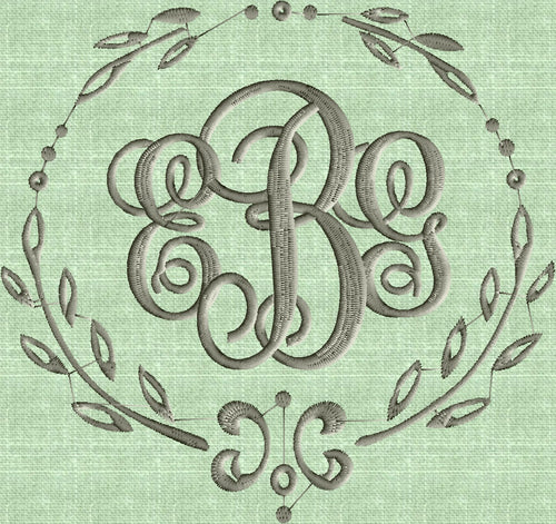 Charming Font Frame Monogram Embroidery Design -Font not included - EMBROIDERY DESIGN FILE - Instant download - Vp3 Dst Exp Jef Pes formats