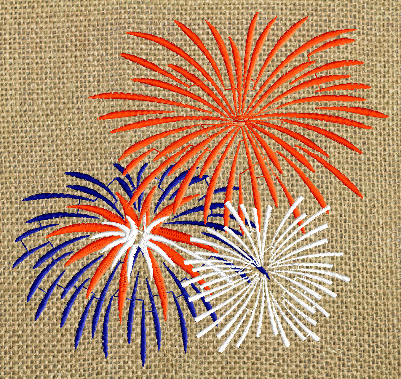 Fireworks Patriotic Design 4th Of July Welcome Home Embroidery D Stitchelf