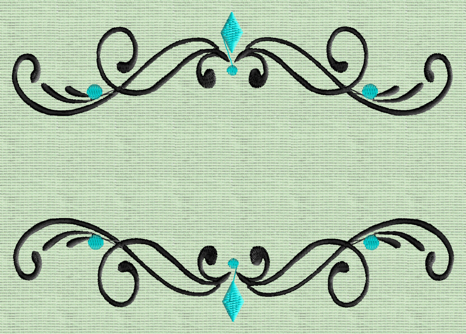 Pristina Font Frame Monogram Embroidery Design -Font not included- EMBROIDERY DESIGN FILE -Instant download- Dst Hus Jef Pes Exp Vp3 formats