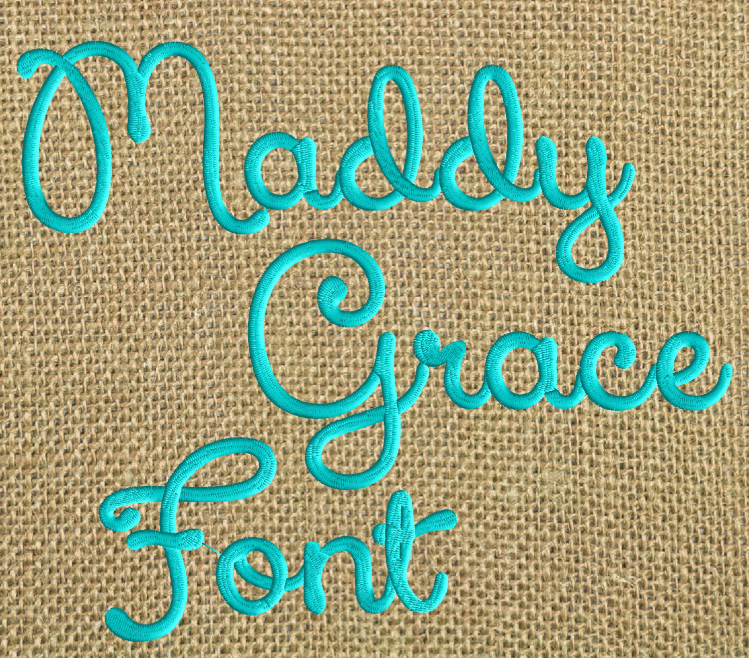 "Madelynn Grace Full 1.5"" Font with symbols & numbers Embroidery File - EMBROIDERY DESIGN FILE - Instant download - Dst Hus Jef Pes Exp format"