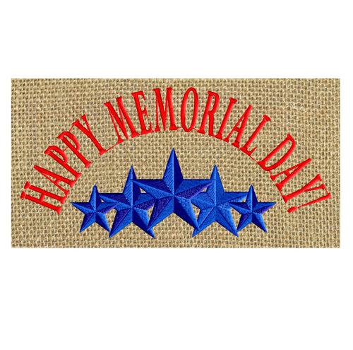Memorial Day quote - 5 STARS Patriotic Design - 4th of July Welcome home - Embroidery DESIGN FILE - Instant download - Dst Jef Pes Exp Vp3 formats