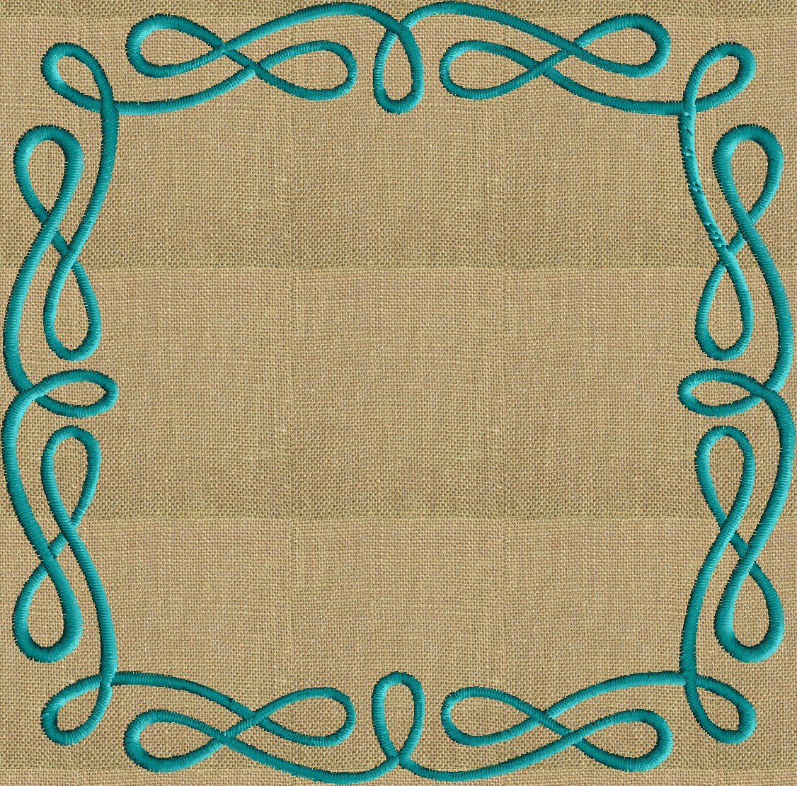 Infinite Frame Monogram -Font not included - EMBROIDERY DESIGN - Instant download