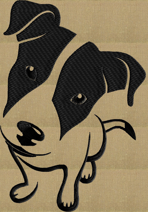Jack Russell Terrier dog - Embroidery DESIGN FILE - Instant download - animals