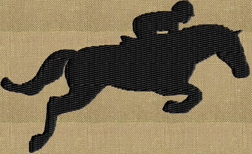 Jumping Horse SMALL Silhouette - Embroidery DESIGN FILE - Instant download animals