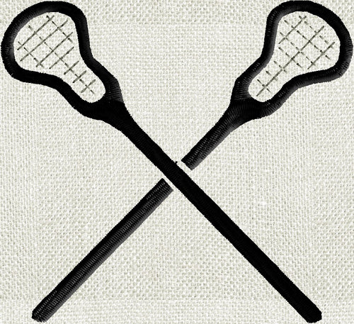 LaCrosse Sticks Embroidery Design - fun stuff