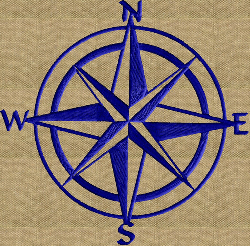 Mariners Star - Nautical Ocean Sea Design - Embroidery DESIGN FILE - Instant download - Dst Hus Pes Exp Vp3 formats