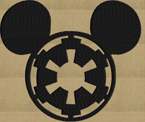 Imperial Mickey Ears Embroidery Design - EMBROIDERY Design FILE - fun stuff