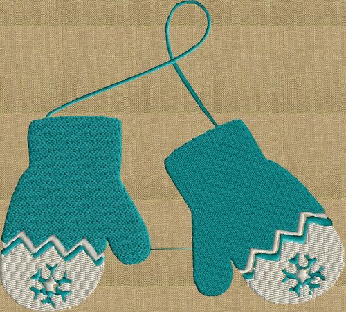 Mittens retro cute - EMBROIDERY DESIGN FILE - Instant download - fun stuff