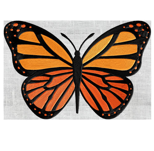 Monarch Butterfly - EMBROIDERY DESIGN file - Instant download Exp Jef Vp3 Pes Dst Hus formats - 2 sizes & 3 colors